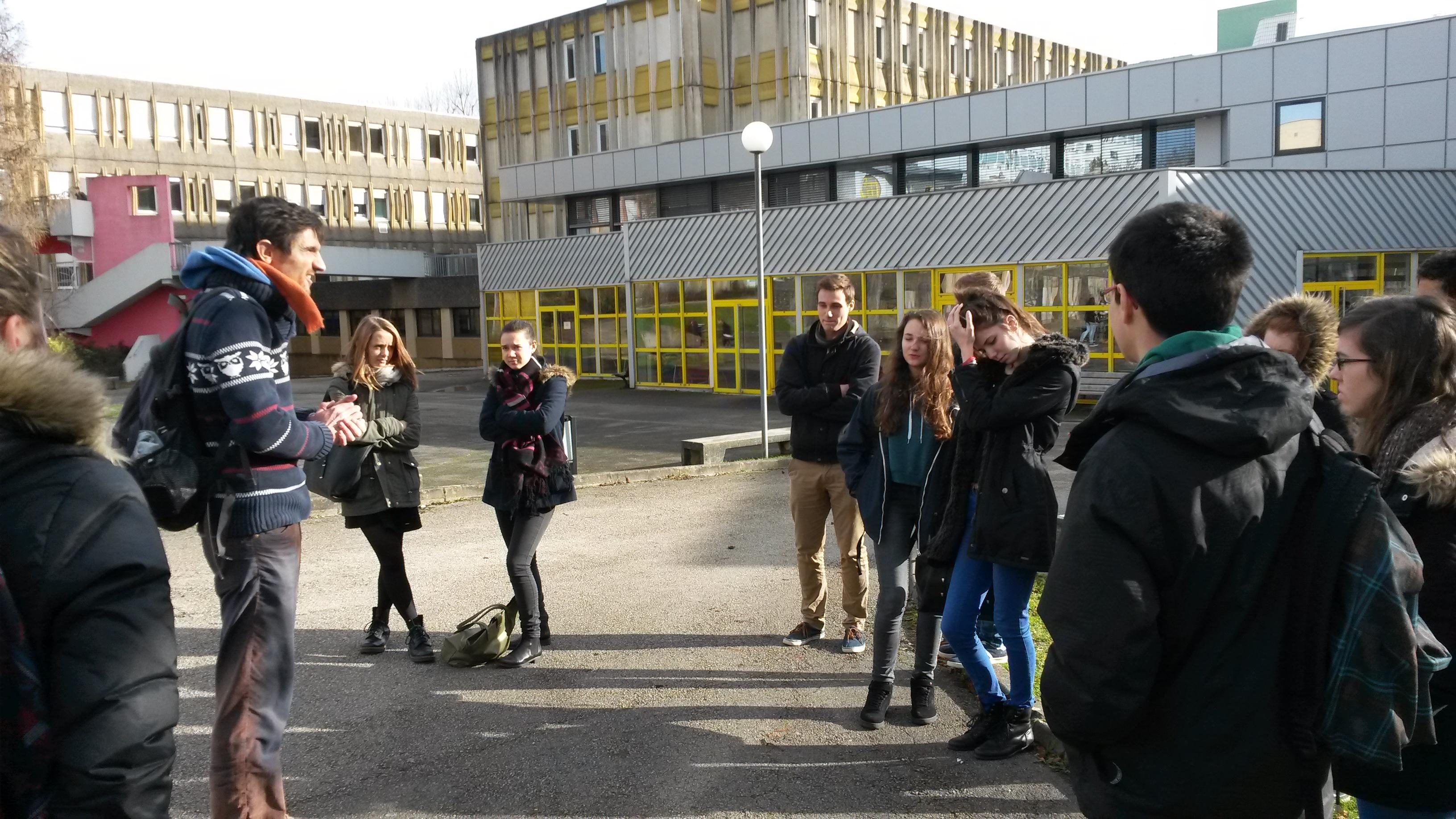 Première sortie éco-délégués du 12 janvier   Lycée Victor Hugo